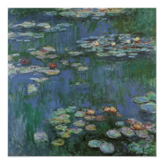 Vintage Monet Water Lilies Posters