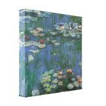 Vintage Monet Water Lilies Stretched Canvas Print