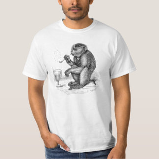 Vintage Monkey Smoking a Pipe Monkeys  Animal T-Shirt