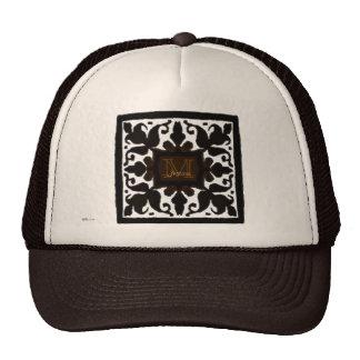 Vintage Monogram Chocolate Mesh Hat