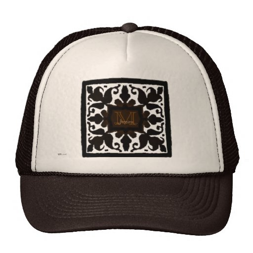Vintage Monogram (Chocolate) Mesh Hat
