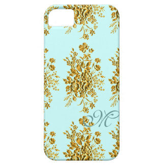 Vintage Monogram Girly Floral / House-of-Grosch iPhone 5 Case