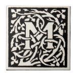 Vintage Monogram M Art Nouveau Letter
