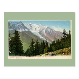 Vintage Mont Blanc view from the Flégère route Postcard