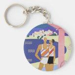 Vintage Monte Carlo Beach Keychains