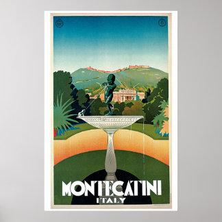 Vintage Montecatini Italian travel advert Poster