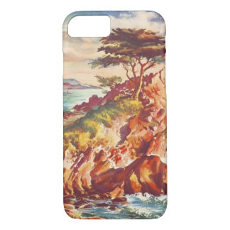 Vintage Monterey Coastline Californian Tourism USA iPhone 7 Case