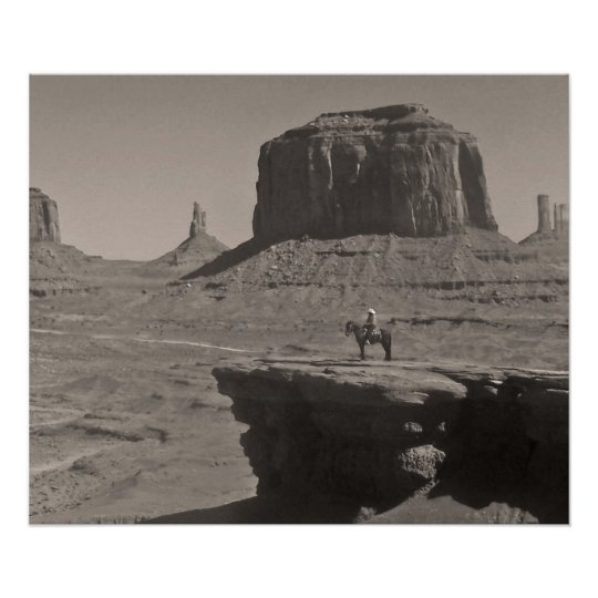 Vintage Monument Valley Cowboy Poster
