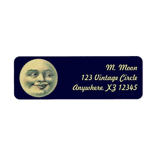 Vintage Moon Return Address Label