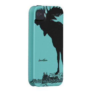 Vintage Moose and Wolf Wildlife -Choose Case Color Case For The iPhone 4