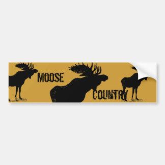 Vintage Moose Bumper Sticker Car Bumper Sticker