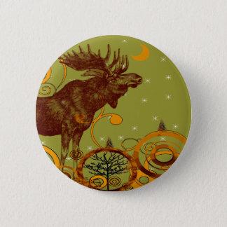 Vintage Moose Gifts 6 Cm Round Badge