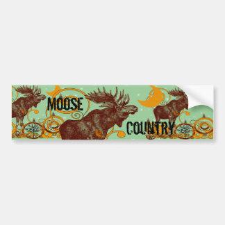 Vintage Moose Gifts Car Bumper Sticker