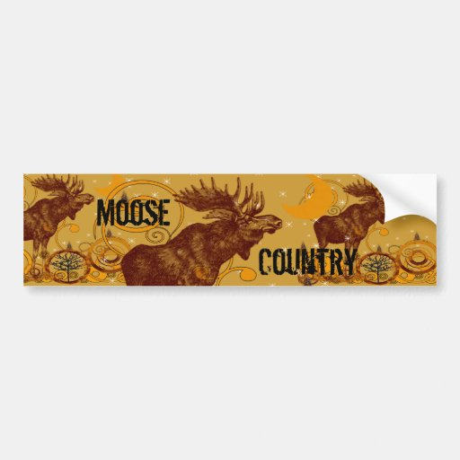 Vintage Moose Gifts Bumper Stickers