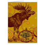 Vintage Moose Gifts Greeting Cards