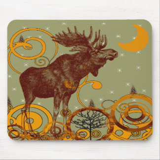 Vintage Moose Gifts Mouse Mat