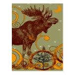 Vintage Moose Gifts Post Card