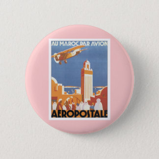 Vintage Morocco Aeropostale Mosque 6 Cm Round Badge