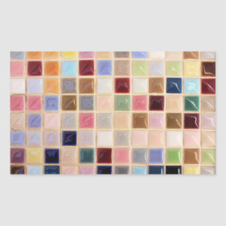 Vintage Mosaic Tiles Rectangular Sticker