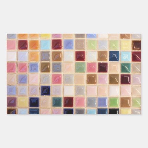 Vintage Mosaic Tiles Rectangular Sticker
