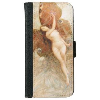 Vintage Moth Fairy Wallet Case iPhone 6 Wallet Case