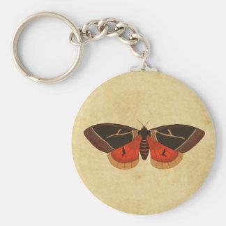 Vintage Moth Keychain