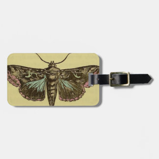 Vintage Moth Luggage Tag
