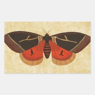 Vintage Moth Rectangular Sticker
