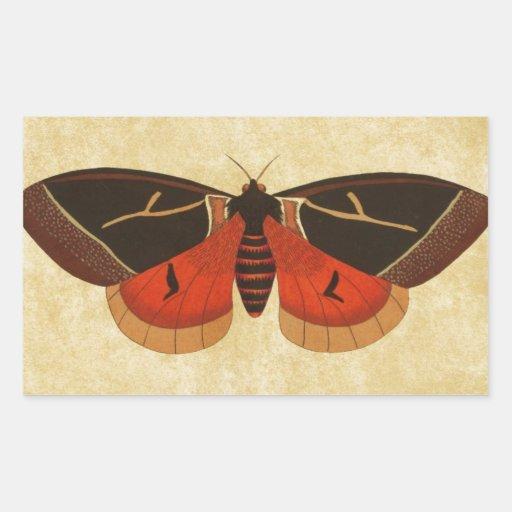 Vintage Moth Stickers