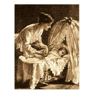 Vintage Mother and Baby Postcard