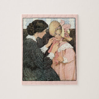 Vintage Mother and Child by Jessie Willcox Smith Jigsaw Puzzle
