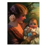 Vintage Mother and Child Family Portrait