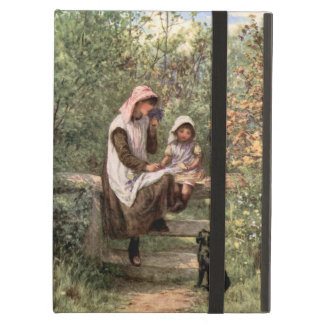Vintage Mother and Child in a country setting iPad Air Cover