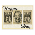 Vintage mother day card with Antique Alphabet Card Postcard