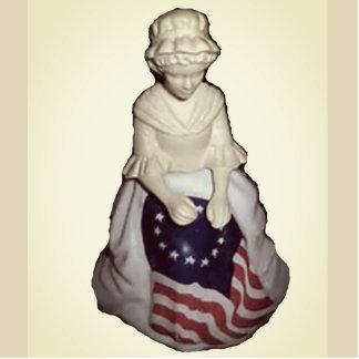 Vintage Mother Flag Photo Sculpture Magnet