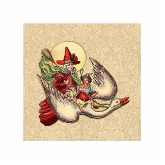Vintage Mother Goose Antique Illustration Photo Sculpture Magnet