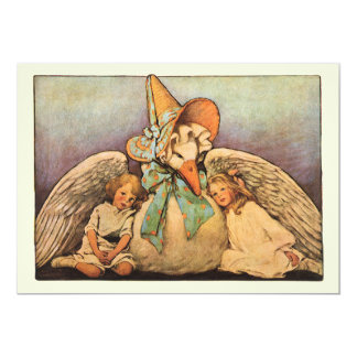 Vintage Mother Goose Birthday Party Invitation