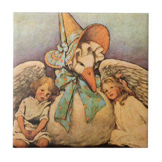 Vintage Mother Goose Children Jessie Willcox Smith Tile