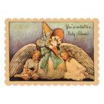 Vintage Mother Goose Children Twins Baby Shower 13 Cm X 18 Cm Invitation Card