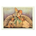 Vintage Mother Goose Children Twins Birthday Party 13 Cm X 18 Cm Invitation Card