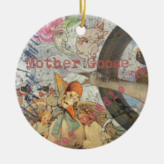 Vintage Mother Goose Fairy tale Collage Christmas Ornament