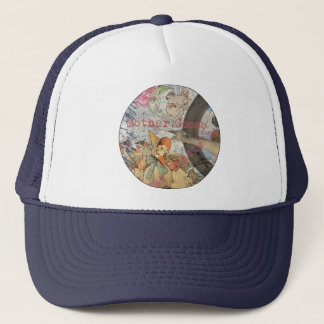 Vintage Mother Goose Fairy tale Collage Trucker Hat