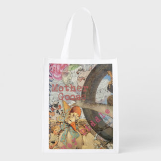 Vintage Mother Goose Fairy tale Collage Market Tote