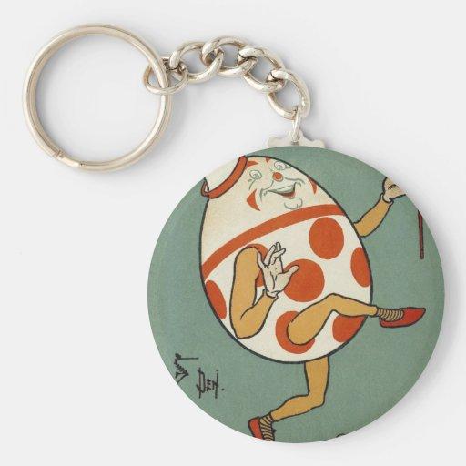 Vintage Mother Goose Nursery Rhyme, Humpty Dumpty Basic Round Button Key Ring