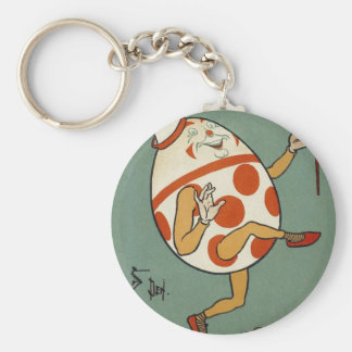 Vintage Mother Goose Nursery Rhyme, Humpty Dumpty Key Ring