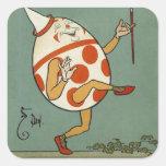 Vintage Mother Goose Nursery Rhyme, Humpty Dumpty Stickers