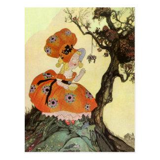 Vintage Mother Goose Nursery Rhyme Poem Postcards