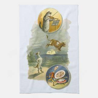 Vintage Mother Goose Nursery Rhyme Poem Tea Towel