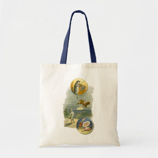 Vintage Mother Goose Nursery Rhyme Poem Budget Tote Bag