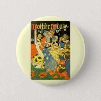 Vintage Mother Goose Reading Books to Children 6 Cm Round Badge